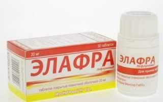 Эффективность применения лекарства Элафра