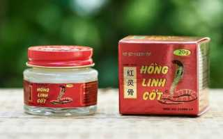 Применение вьетнамского бальзама Хонг Линь Кьот для суставов